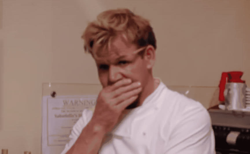 annoyed, catastrophy, denial, deny, disappointed, disaster, god, gordon, kitchen, my, nightmares, no, not, oh, omg, ramsey, Oh no GIFs