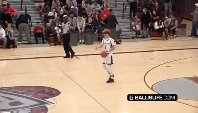 Watch and share LaMelo Ball Crazy Halfcourt Shot! POINTS At The Line Then PULLS UP From It! LOL Stephen Curry Who!? GIFs on Gfycat