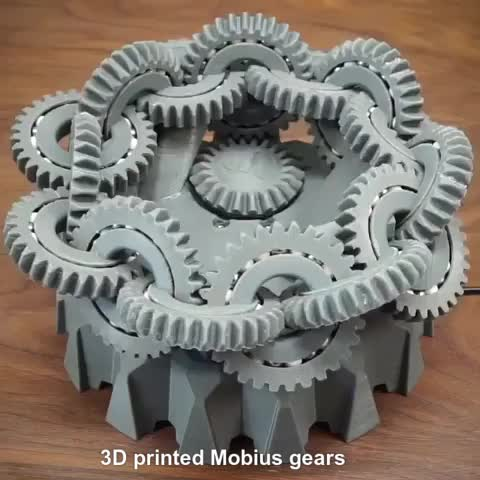 Watch and share 3D Printed Mobius Gears GIFs by Mahmoud M. Mahdali on Gfycat