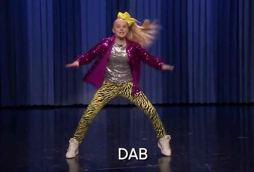 aggressive, crazy, dab, dance, dancing, drunk, epic, excited, fallon, funny, jimmy, jojo, lol, nuts, off, party, show, siwa, tonight, win, Aggressive Dance-Off with JoJo Siwa GIFs