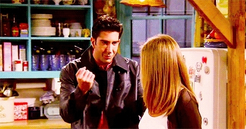 courteney cox, david schwimmer, friends, jennifer aniston, monica geller, ross geller, friends ross GIFs