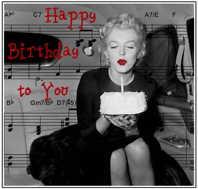 Watch and share Marilyn Monroe GIFs and Happy Bday GIFs on Gfycat