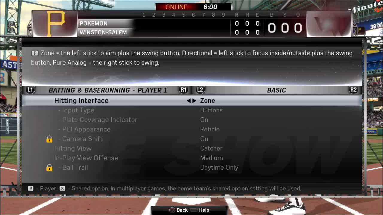 mlbtheshow, Available hitting views in Online Head to Head GIFs