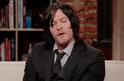 Watch and share Interview Gif GIFs and Norman Reedus GIFs on Gfycat