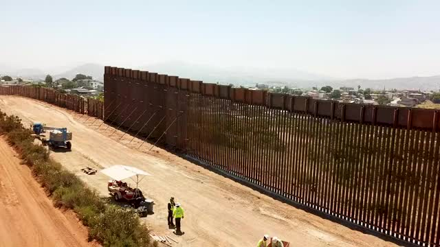 Watch and share DVIDS - Video - New And Legacy Border Wall Flyover In Tecate Calif 2 GIFs on Gfycat