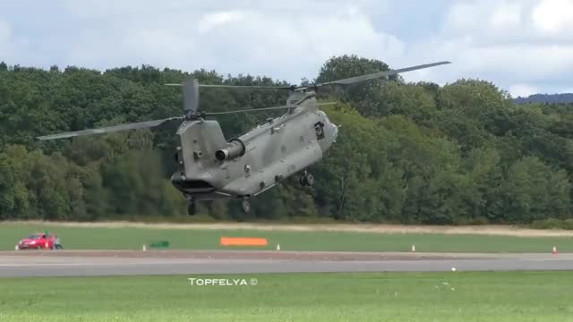 Watch Skilled Helicopter pilot Chinook CH-47 GIF on Gfycat. Discover more AirShow, Aircraft, Chinook, Impressive, Plane, airplane, airplanes, aviation, boeing, ch-47, flying, hc4, helicopter, landing, maneuver, stunt GIFs on Gfycat