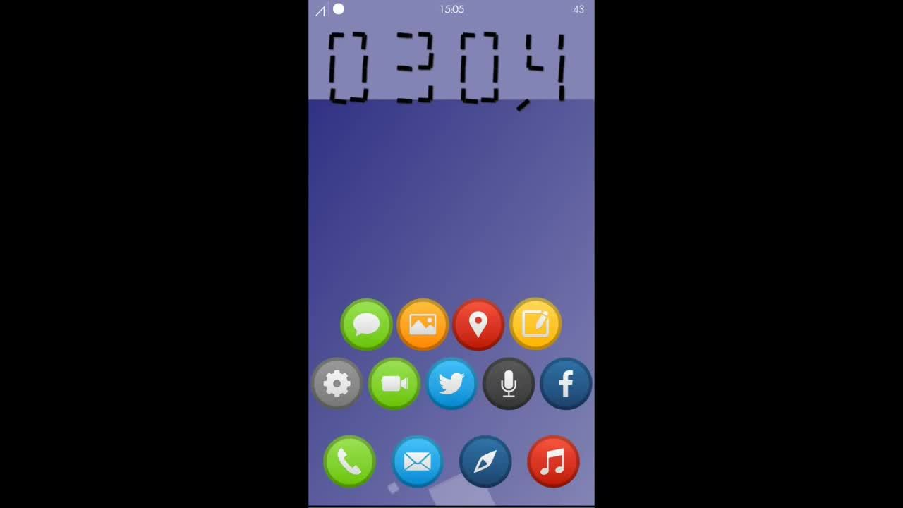 iosthemes, Any interest in this SBHTML? 'Serenity' - floating squares and clock (reddit) GIFs