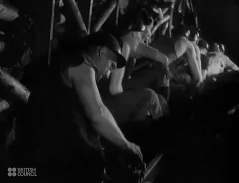 Watch and share Coal Mining In Britain - Welsh Mining Pits - World Trade In Coal - 1940s GIFs on Gfycat