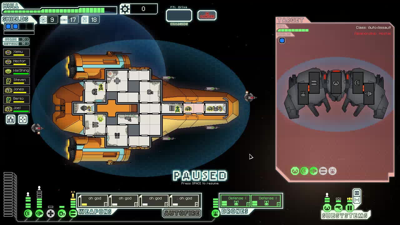 ftl, ftlgame, oh god, This modified Kestrel-class ship was created by a real laser weapon aficionado GIFs