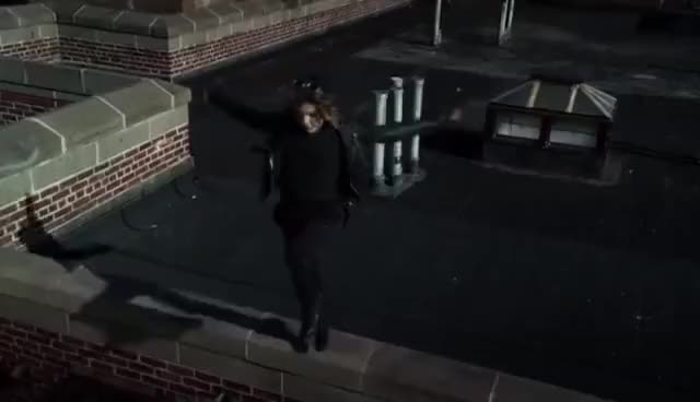 Watch and share Gotham 2x17 - Bruce Wayne And Selina Kyle (the Jump Scene) GIFs on Gfycat