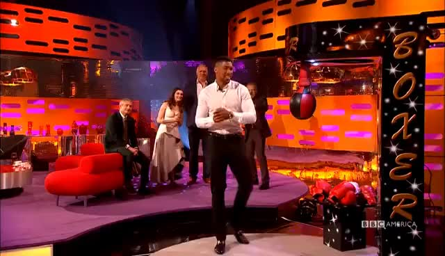 Watch Martin Freeman and Rachel Weisz Practice Punching  - The Graham Norton Show GIF on Gfycat. Discover more related GIFs on Gfycat