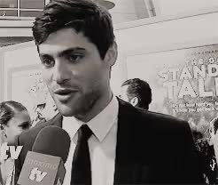 Watch and share Matthew Daddario GIFs and Interview GIFs on Gfycat