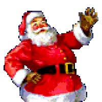 Watch and share Santa Waving animated stickers on Gfycat