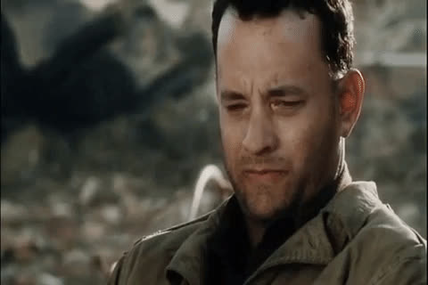 captain, for, hanks, just, me, memories, memory, miller, movies, saving private ryan, thinking, thought, thoughts, tom hanks, That one i save just for me. GIFs