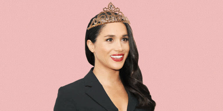 crown, harry, kingdom, markle, meghan, pink, prince, queen, tiara, uk, united, Meghan Markle  GIFs