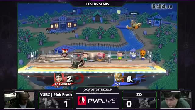 S@X 181 - ZD (Fox) Vs. VGBC | Pink Fresh (Bayonetta) - SSB4 Losers Semis - Smash for Wii U