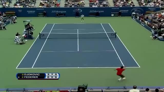 Watch and share Smash Lob Contre Djokovic GIFs on Gfycat