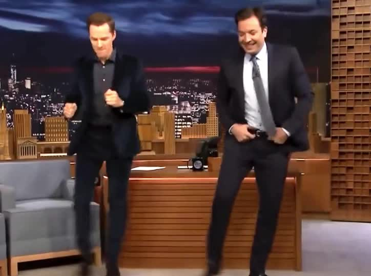 celebrate, jimmy, show, Benedict and Jimmy dance GIFs