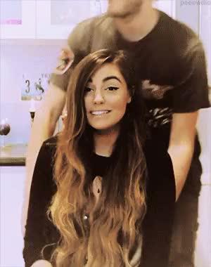 Watch Cutest couple ever  GIF on Gfycat. Discover more cutiepiemarzia, felix kjellberg, marzia bisognin, pewdie, pewdiepie, pewds, poodiepie, youtubers GIFs on Gfycat