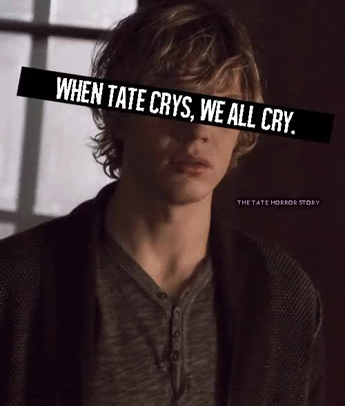 Watch Is true GIF on Gfycat. Discover more american horror story, crying, evan peters, follow, followback, followme, tate, tate langdon, true GIFs on Gfycat