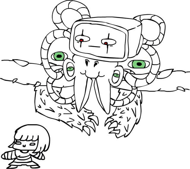 Watch and share Photoshop Flowey And Frisk [GIF Uwu] By Ren-GaaraOfTheWar GIFs on Gfycat