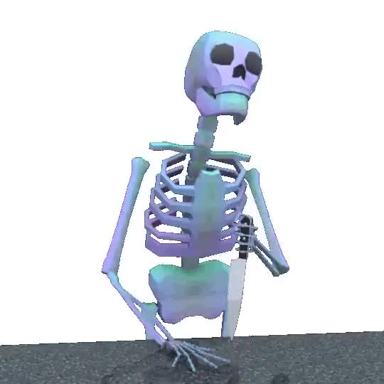 Watch and share Skeleton Wait GIFs on Gfycat