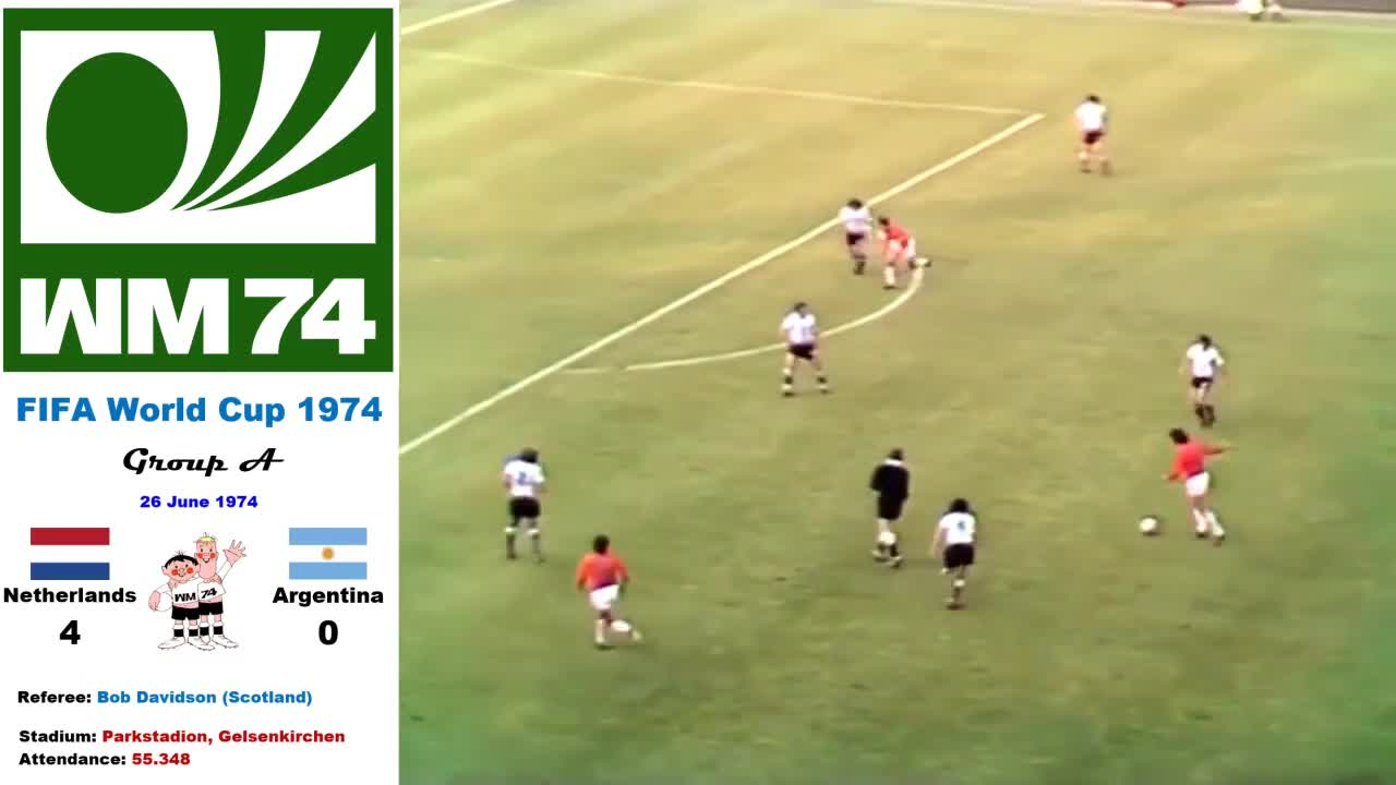 1974, Argentina, Deutchland, FIFA, HD, West Germany, World Cup, all goals, football, soccer, World Cup West Germany 1974: Netherlands - Argentina 4-0 (Group A) - HD GIFs