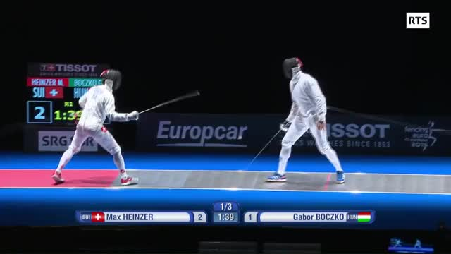 Watch One of my favourite Max Heinzer touches from the European Championships! [EPEE] (reddit) GIF by Leland Guillemin (@trueflipmode) on Gfycat. Discover more Fencing, fencing GIFs on Gfycat
