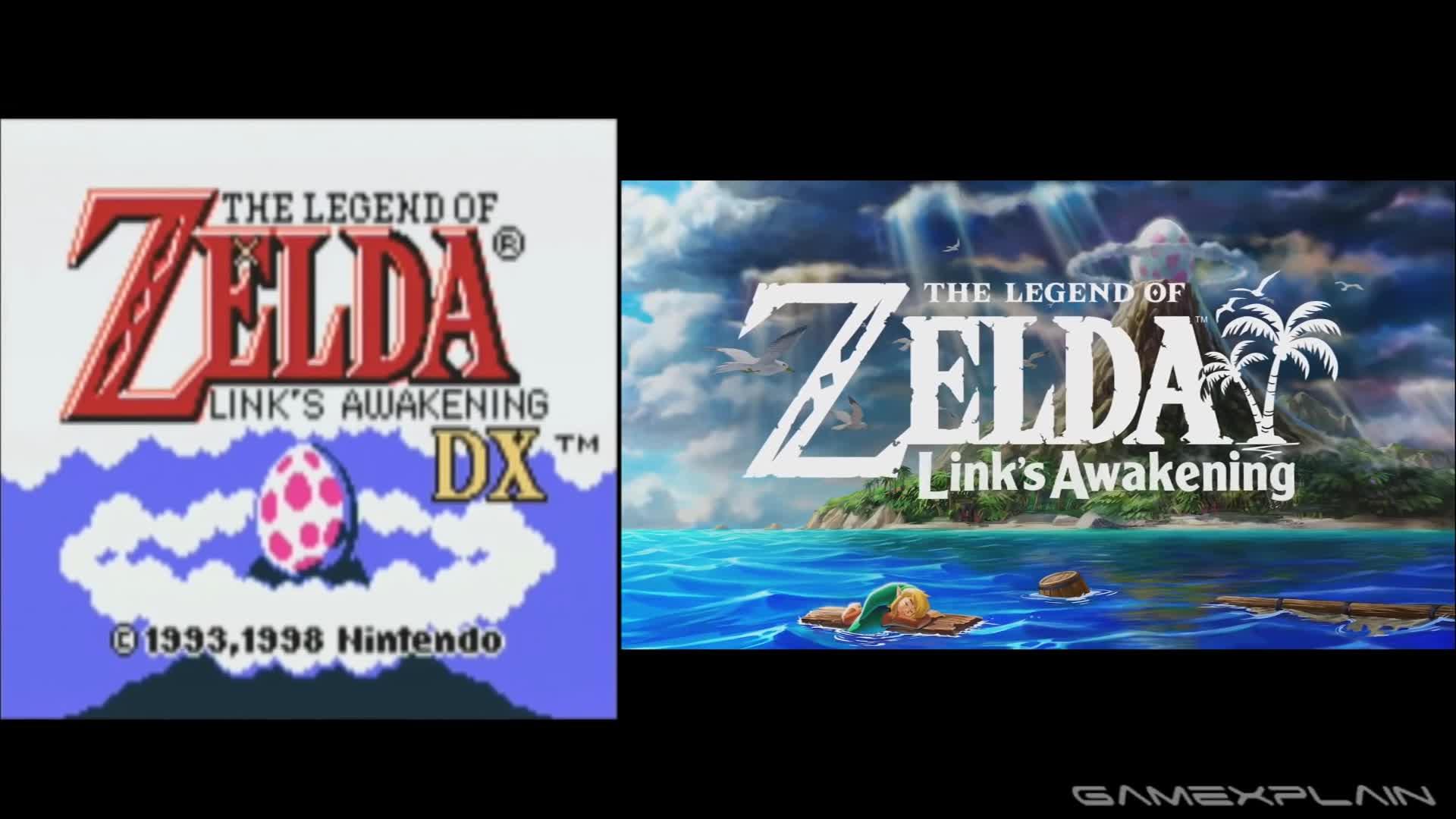 link's awakening, zelda, Zelda: Link's Awakening Comparison (Nintendo Switch vs Game Boy) GIFs