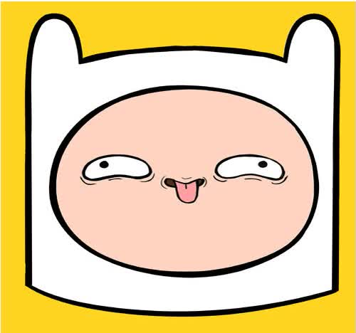 Watch and share Finn Adventure Time Face animated stickers on Gfycat