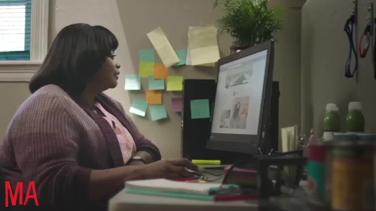 creepin, creepy, ma, ma movie, octavia spencer, work, working, MA Creepin on Work Computer GIFs