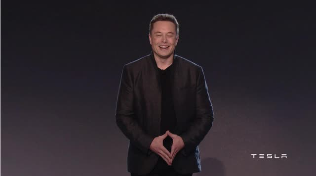 Watch and share Elon Musk At The Model 3 Unveil In Late March, 2016. animated stickers on Gfycat