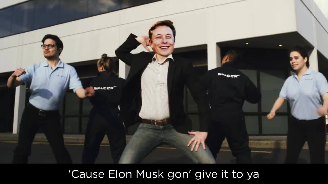 Elon Musk, elonmusk, spacex, SpaceX Launch You Up (Uptown Funk Parody) (reddit) GIFs