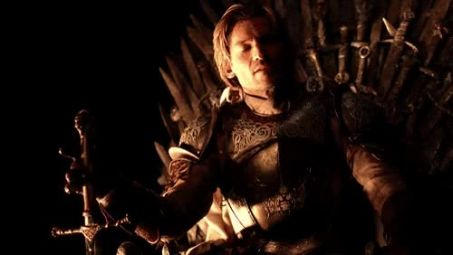 Watch and share Nikolaj Coster-waldau, Iron Throne, And Jaime Lannister Image GIFs on Gfycat