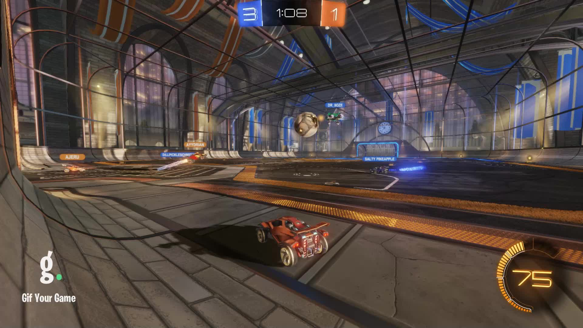 Gif Your Game, GifYourGame, ItWas...Justified, Rocket League, RocketLeague, Save, Save 5: ItWas...Justified GIFs