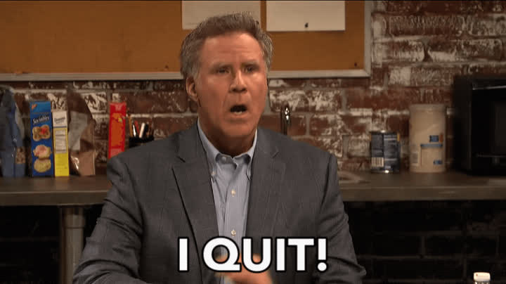 done, hate my job, i quit, office breakroom, quit, resignation, saturday night live, snl, will ferrell, work, Will Ferrell SNL Office Breakroom Sketch GIFs