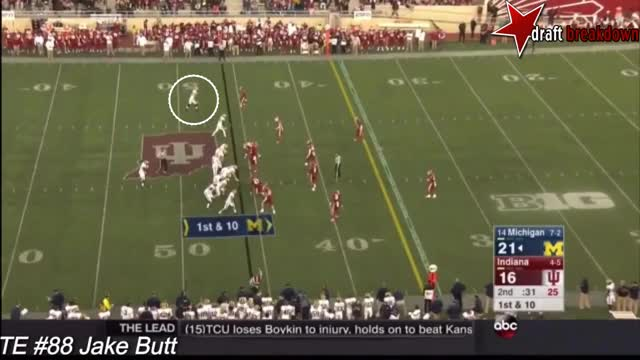 Watch and share Jake Butt Vs Indiana(2015) GIFs on Gfycat