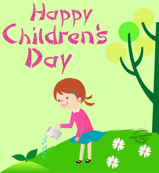 Watch and share Girl Planting Trees On Childrens Day Happy Childrens Day GIFs on Gfycat