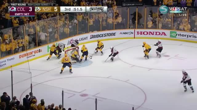 Watch Kerfoot scores with 36 seconds remaining to make it a 1 goal game. 5-4 preds GIF by Beep Boop (@hockeyrobotthing) on Gfycat. Discover more hockey GIFs on Gfycat