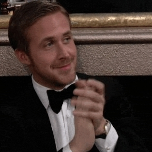 Ryan Gosling, applause, clapping, slowclap, slow clap GIFs