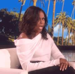 ellen show, michelle obama, omg, shocked, shook, wtf, Michelle Obama OMG GIFs