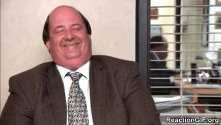 Watch and share Laughing Funny LOL Haha Hehe Hilarious Fun Happy Laugh Kevin Malone Brian Baumgartner The Office GIFs on Gfycat