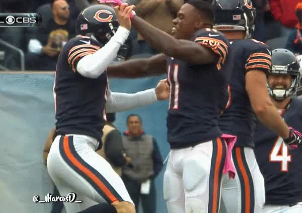 Watch Robbie Gould and Josh Bellamy celebrate reaction GIF by MarcusD (@-marcusd-) on Gfycat. Discover more Aml Ameen GIFs on Gfycat