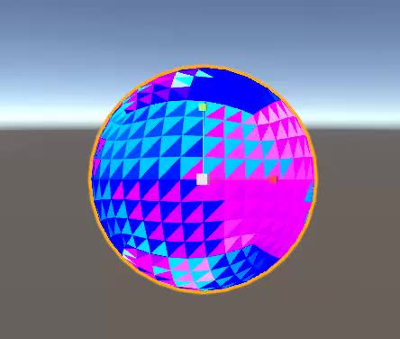 Geometry shader A-Edge UV-WorldPos differential GIF by (@invertex