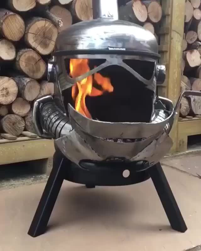 Watch and share Storm Trooper Wood Burner GIFs on Gfycat