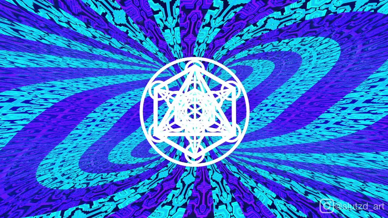 animation, colorchanging, colorful, geometric, loop, neon, psychedelic, sacredgeometry, torus, trippy, video, Metatron - Torus GIFs