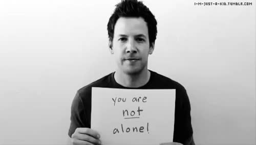 Watch and share You Are Not Alone GIFs on Gfycat
