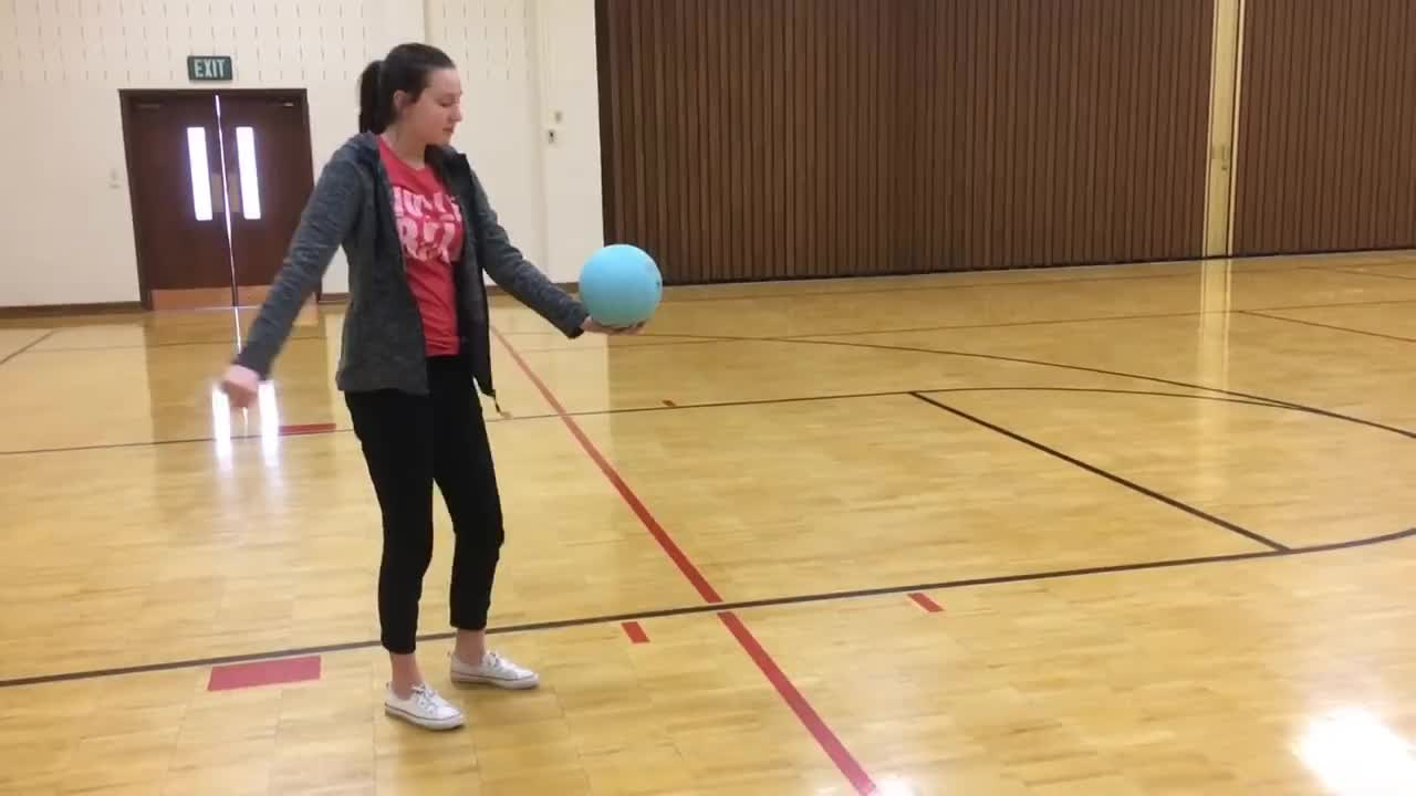 Beginners How To Serve A Volleyball Underhand Gif Gfycat