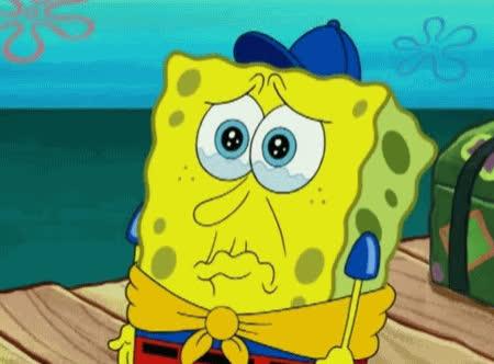 crying, disappointed, hurt, lip quiver, sad, spongebob, Spongebob Sad GIFs
