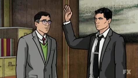 Watch and share Archer, Slap, Smack, Shut Up, Nope GIFs on Gfycat